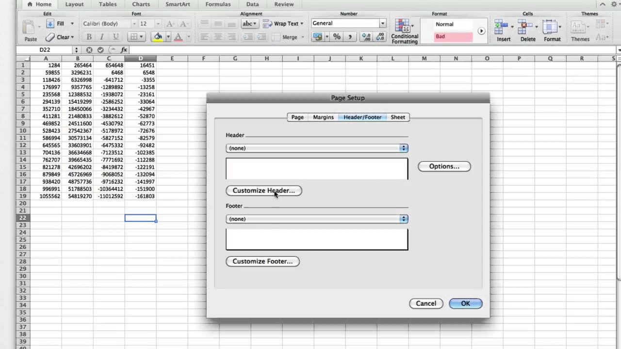 How to Insert Excel Page Numbers - YouTube