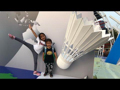 Zara Cute Ikut Papa Ke Lokasi Badminton Indonesia Open 2019 | Aktivitas Zara Dan Keluarga