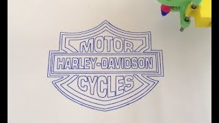 "Drawing of ""Harley Davidson Logo"""