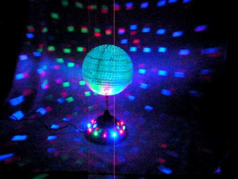 Rotating 8 Quot Mirror Disco Party Ball With Color Led Lights
