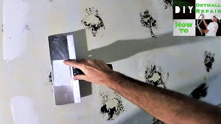 How to repair wall after mirror glue removal: Diy drywall tips