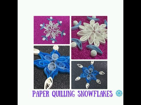 CHRISTMAS ARTICLES/How to make DIY PAPER QUILLING SNOW FLAKES/ EASY TO MAKE SNOW FLAKES/COMPETITION