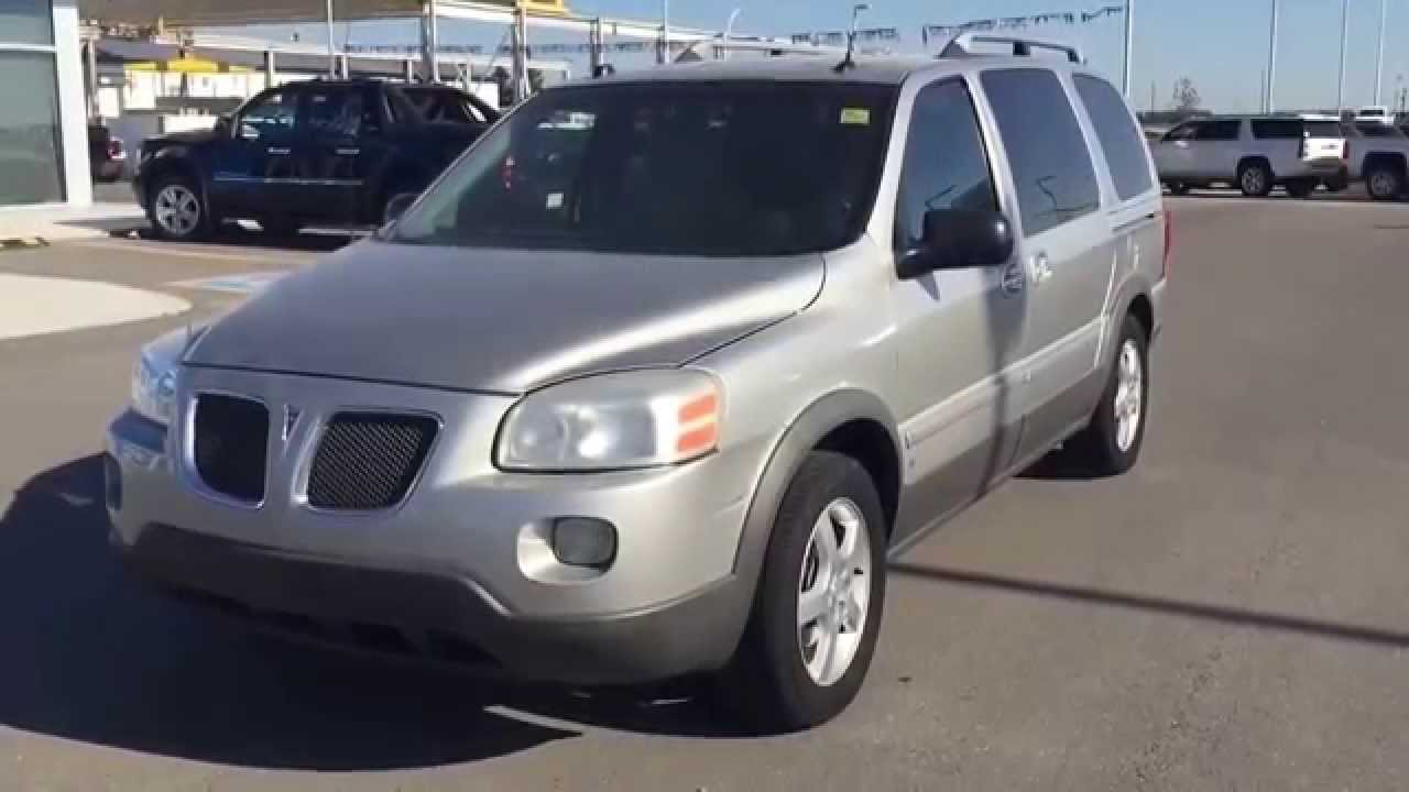 Silver 2006 pontiac montana sv6 extended minivan at scougall motors in fort macleod ab