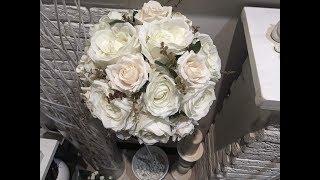 Топиарий из роз на длинной ножке для декора