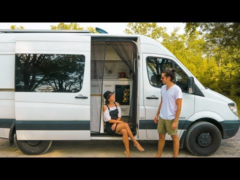 Van Life Tour | Our Custom DIY Sprinter Van Conversion | Eamon & Bec