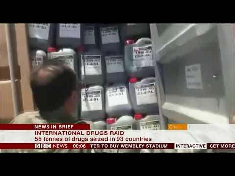 International Drugs Raids (Global) - BBC News - 18th October 2018