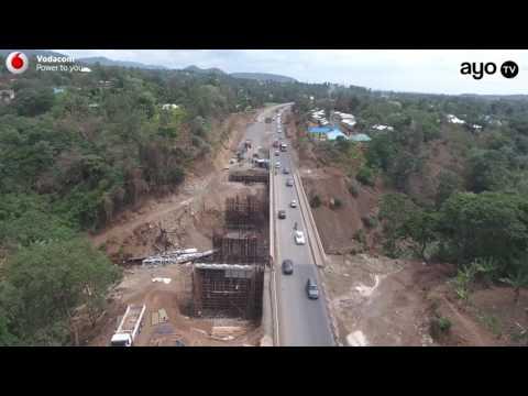 Picha za juu za ujenzi wa Double Road ya Arusha-Voi Kenya