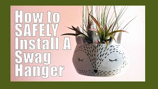 🌱How to hang a plant from your ceiling 🌱| Plant hanger