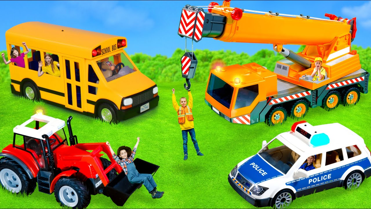 The Kids Shrink And Pretend Play With Toy Cars