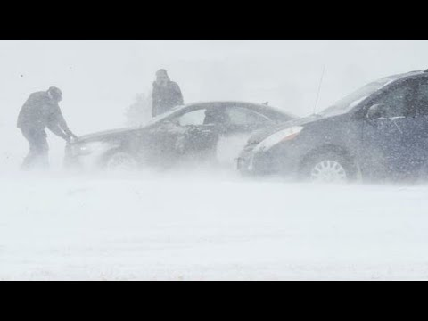 Winter Snow Storm Hits Colorado springs CO, USA, 14 March 2021.