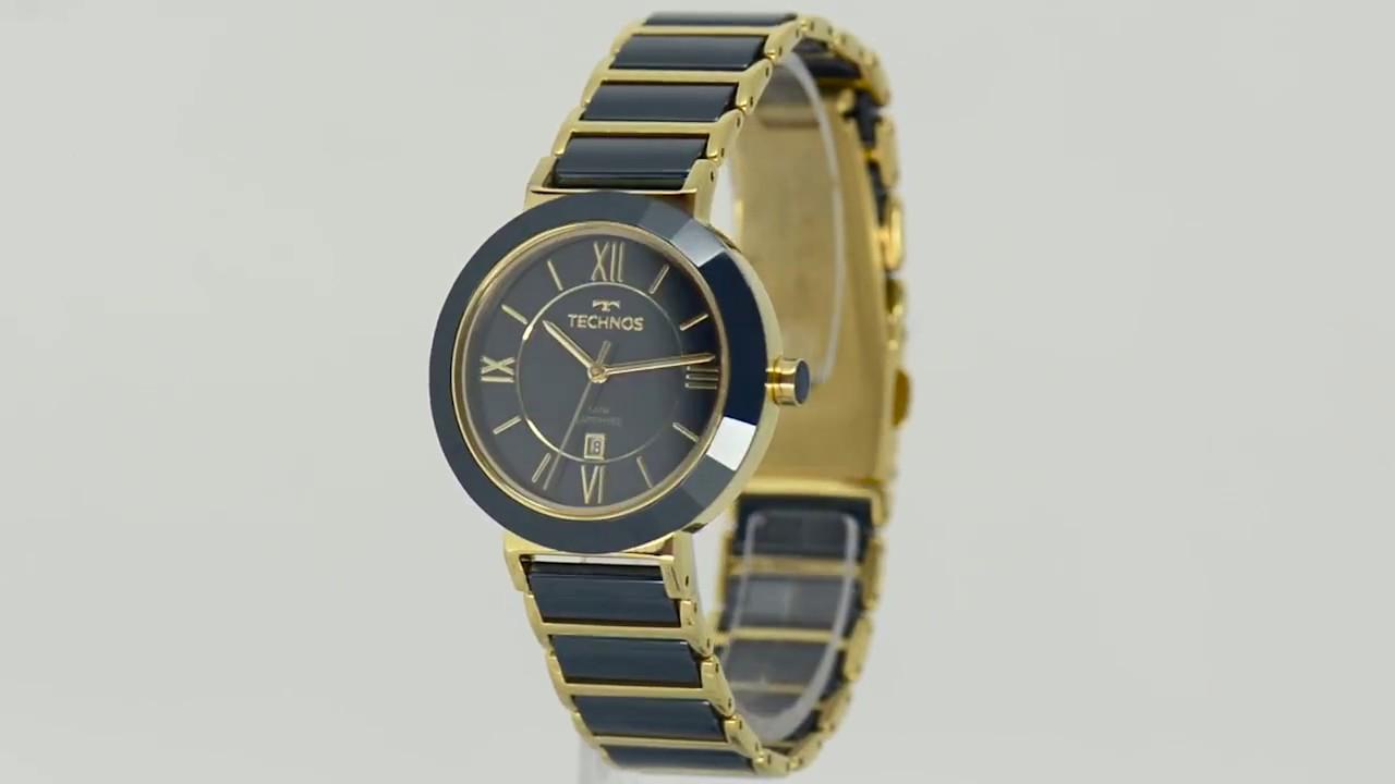 3b2bf6bdc1112 Relógio Technos Feminino Elegance Ceramic 2015CE 5A - Eclock - YouTube
