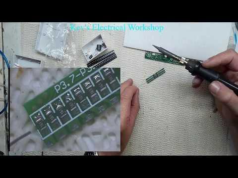 Cross LED Dot Matrix Display Circuit Board Rotating Electronic Kit Part 2