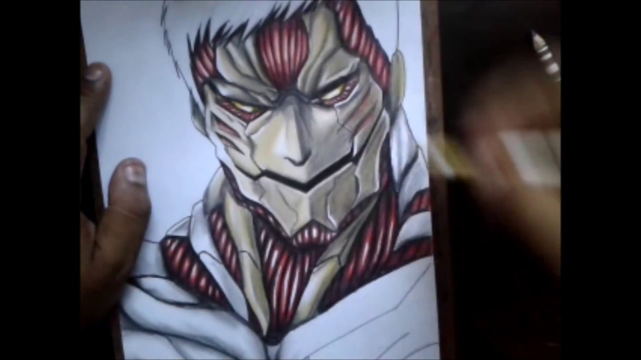 Speed Drawing Reiner Braun Titan Armored Titan Blindado Shingeki No Kyojin Attack On Titan