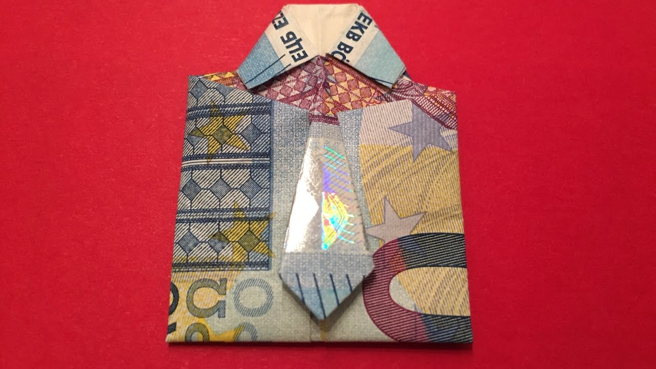 Geldscheine Falten Geld Falten Origami Diy