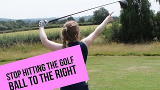 STOP HITTING THE GOLF BALL RIGHT!