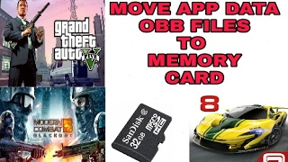 Move app data(obb) to sd card