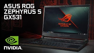 First Look: the ASUS ROG Zephyrus S GX531 with Max-Q design