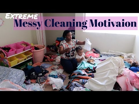 Cleaning Messy Room / Realistic Motivational Cleaning / Messy House / Cleaning Time Lapse