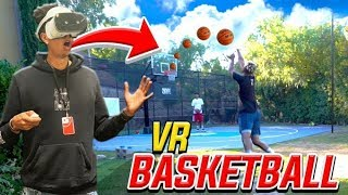 INSANE VR BASKETBALL TRICKSHOTS! *Loser Gets DUNKED!*