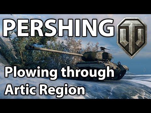 ^^  Pershing plowing through Artic Region. (World of Tanks Gameplay)