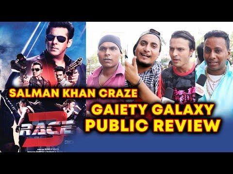RACE 3 PUBLIC REVIEW | GAIETY GALAXY HOUSEFULL | Salman Khan CRAZE