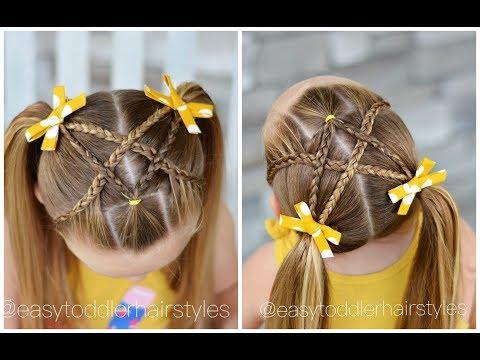 cute-braided-hairstyle- -heart-crossed-braids