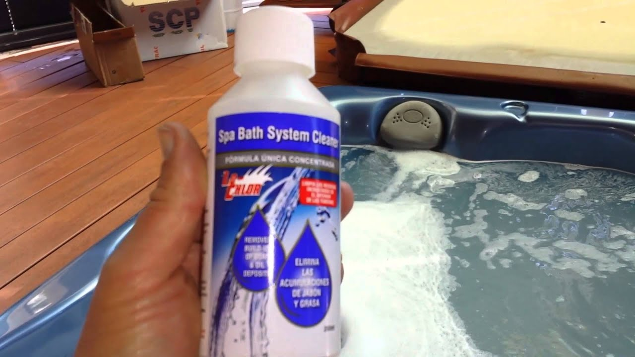 Como limpiar las tuber as del spa jacuzzi youtube - Salfuman para limpiar piscinas ...