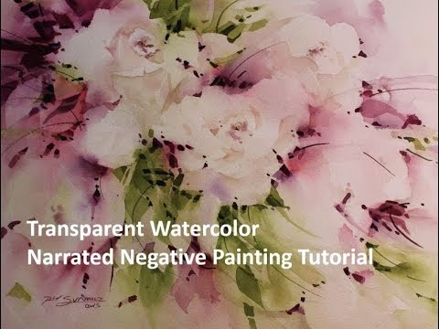 Transparent Watercolor Narrated Tutorial, Blushing Cascade