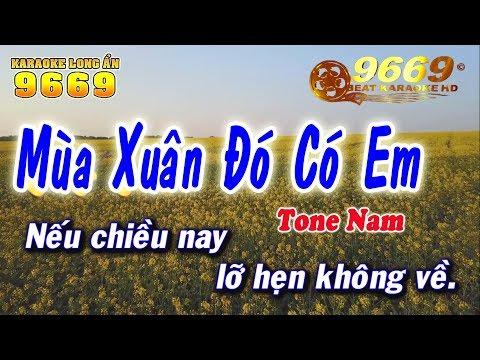 Karaoke Mùa Xuân Đó Có Em - Tone Nam | Nhạc Sống KLA | LA STUDIO - Karaoke 9669