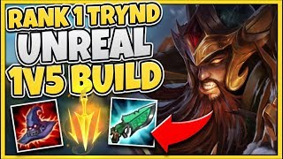 NEVER GIVE UP! FROM BEHIND TO LITERAL 1V9 CARRY! (INSANE DAMAGE + HEALING) - League of Legends thumbnail