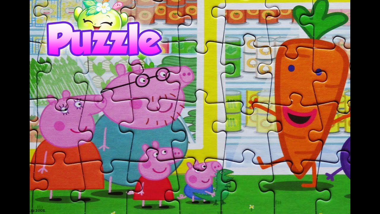 Peppa Pig Puzzle Games Jigsaw Toys For Kids Rompecabezas