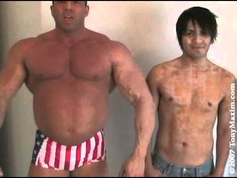 Bodybuilder Tony Maxim Muscle Play/Comparisons with a Cute Friend from YouTube · Duration:  8 minutes 8 seconds