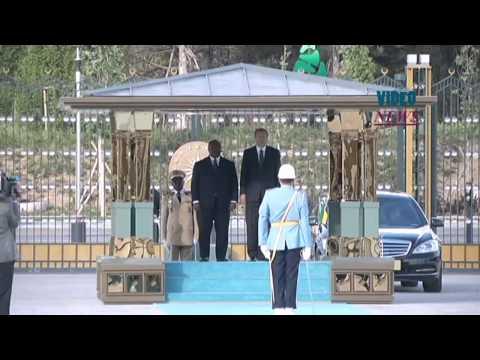 Gabonese President Ondimba in Turkey's capital Ankara