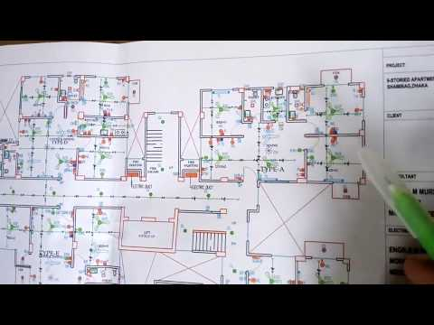 how electrical wiring of apartment building. 1 to 9 floor building electrical wiring. part-2