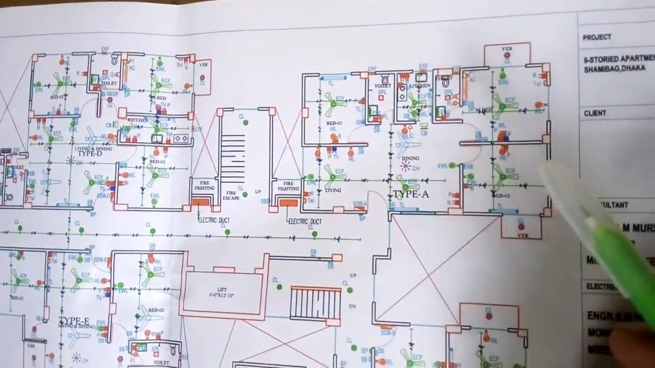 how electrical wiring of apartment building 1 to 9 floor building wiring diagram of commercial building [ 1280 x 720 Pixel ]