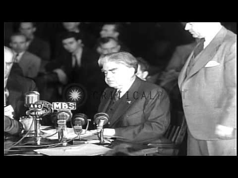 President of the UMWA  John L.Lewis speaks about Centralia mines disaster, in the...HD Stock Footage