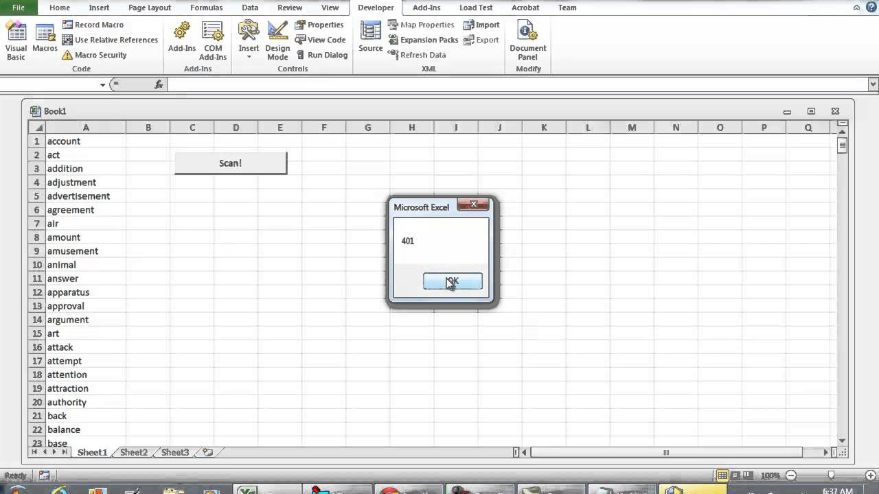 how to detect string in a cell vba
