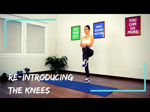 Low impact - Bad Knees Workout for Burning Fat (beginner & intermediate!)