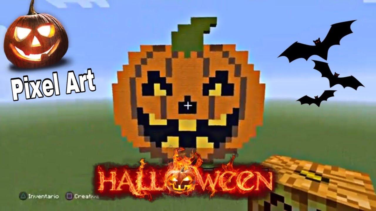 Come Fare La Zucca Di Halloween Video.Pixel Art Zucca Di Halloween Su Minecraft Come Farla How To Make Halloween Pumpkin Youtube