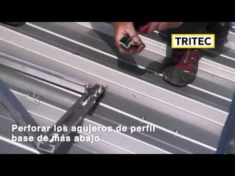 Tri vent sistema de montaje para tejados de chapa - Tragaluces para tejados ...