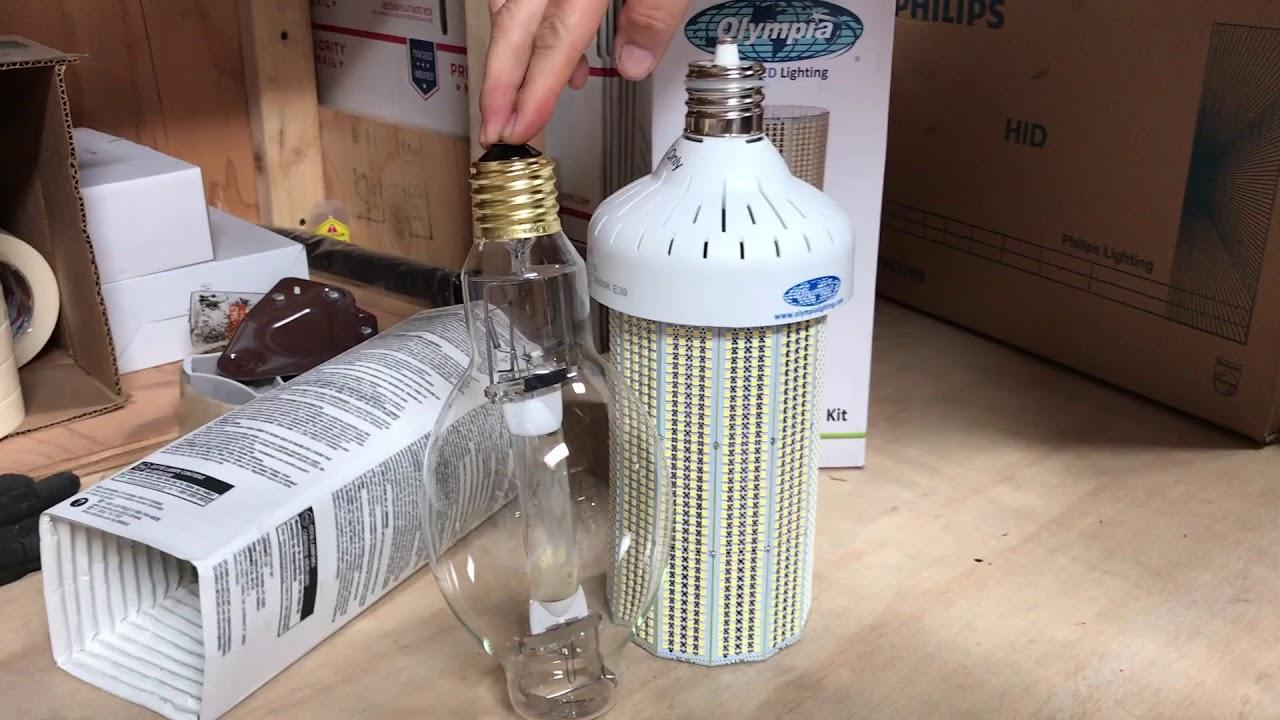 1000 Watt Metal Halide Led Replacement led corn light for 1000 watt metal halide lamp - youtube