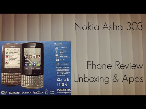 Nokia Asha 303 Phone Review Unboxing & Apps