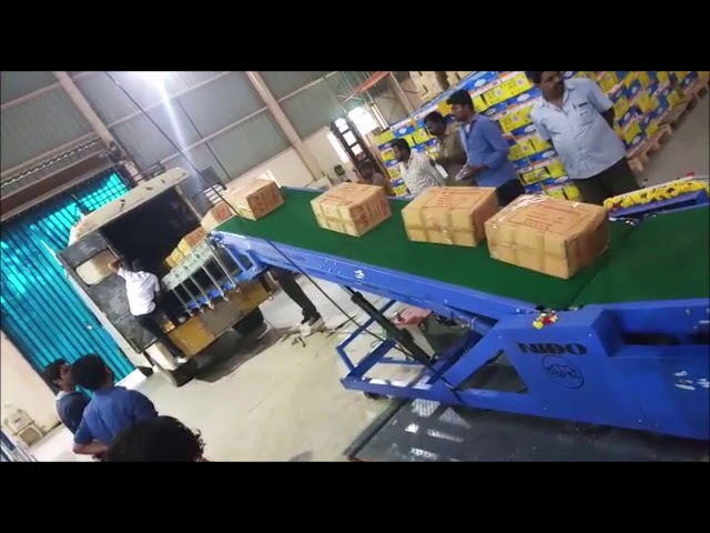 Nido Truck Loading Unloading Conveyor | ND-C-LUS Series - Nido Machineries