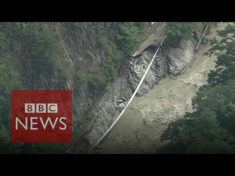 Japan's typhoon leaves widespread damage - BBC News