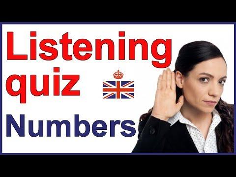 English listening quiz - NUMBERS