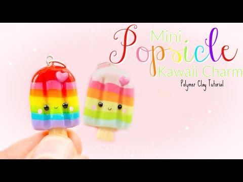 Mini Popsicle Kawaii Charm Polymer Clay Tutorial