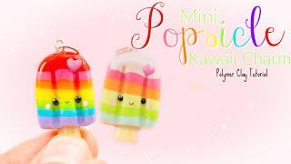 Mini Kawaii Popsicle Charm Polymer Clay Tutorial