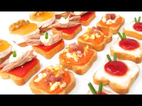 Bocadillos y canapes gourmet banquetes jard n terra doovi - Canapes frios faciles de hacer ...