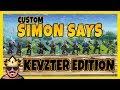 CUSTOM SIMON SAYS KEVZTER EDITION! | FORTNITE PÅ SVENSKA!
