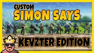 CUSTOM SIMON SAYS KEVZTER EDITION! | FORTNITE PÅ SVENSKA!